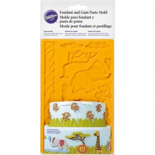 Jungle Animals Fondant & Gum Paste Mould